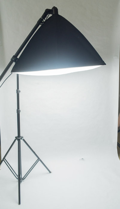 Studio lighting setup for clothing photography